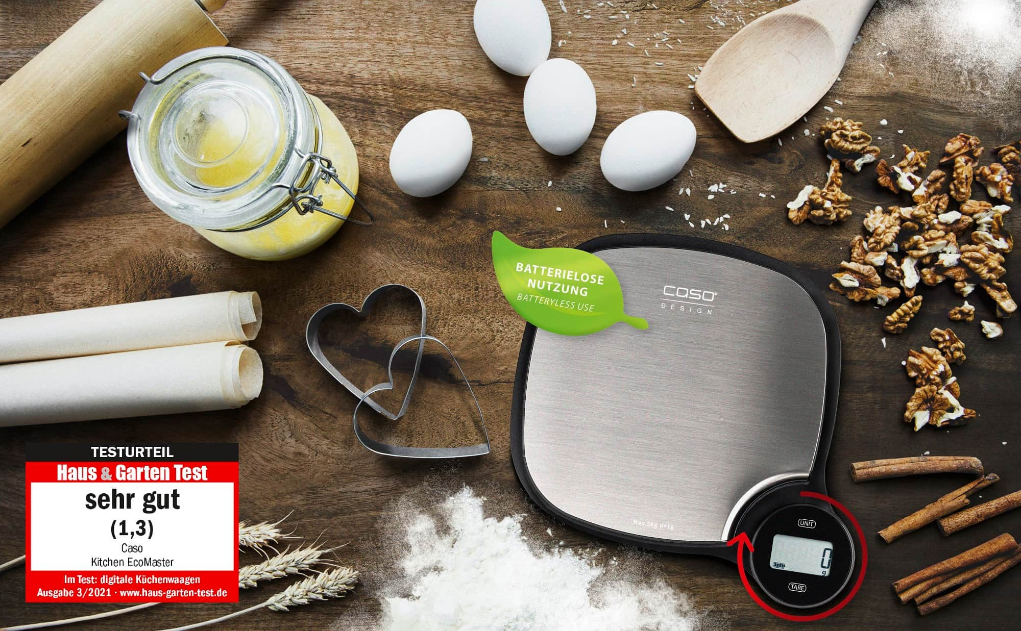 Batterielose Küchenwaagen von CASO Design