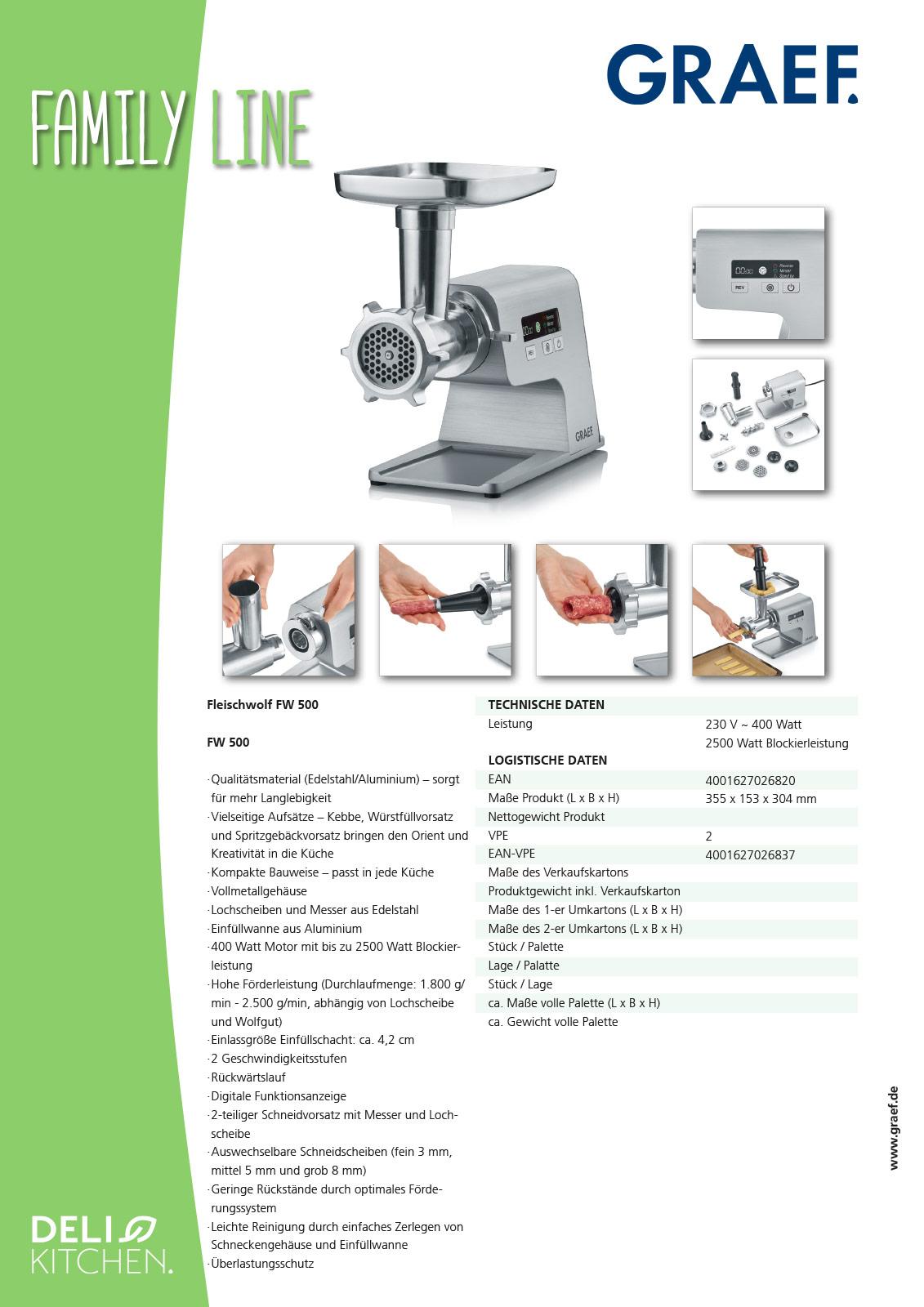 GRAEF MULTIWOLF FW500 Produktblatt