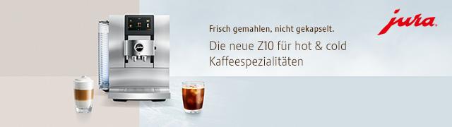 Jura Z10 für hot & cold Kaffeespezialitäten