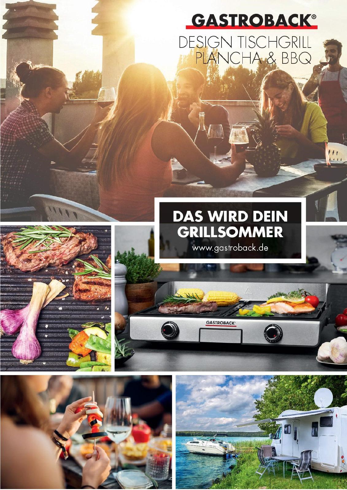 Gastroback Tischgrill Planche&BBQ Produktblatt