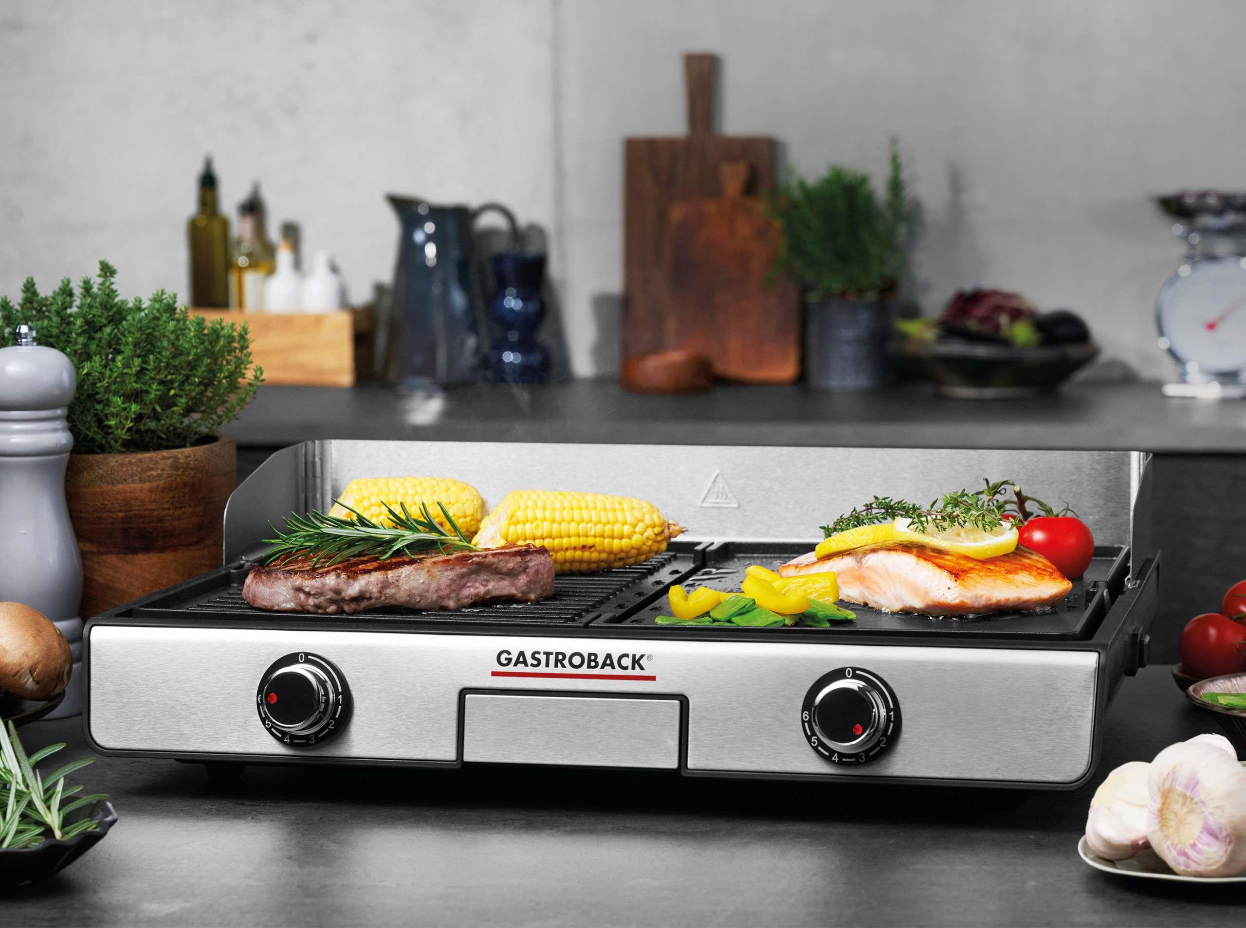 Gastroback DESIGN TISCHGRILL PLANCHA & BBQ