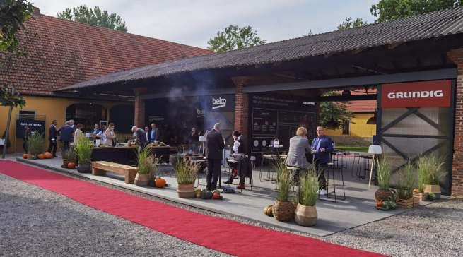 Herrlich entspannend: Lounge-Atmosphäre bei Grundig Beko auf Gut Böckel.