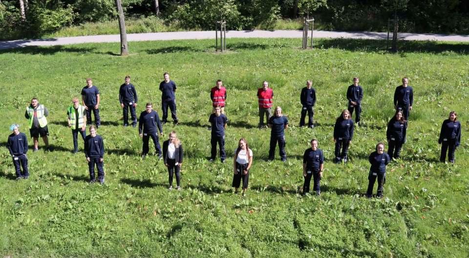 Die neuen Auszubildenden der BSH Hausgeräte am Standort Traunreut.