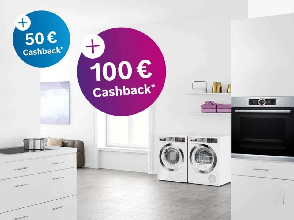 Bosch Cashback-Aktion: Bis zu 100 € Geld-zurück für Endkunden.