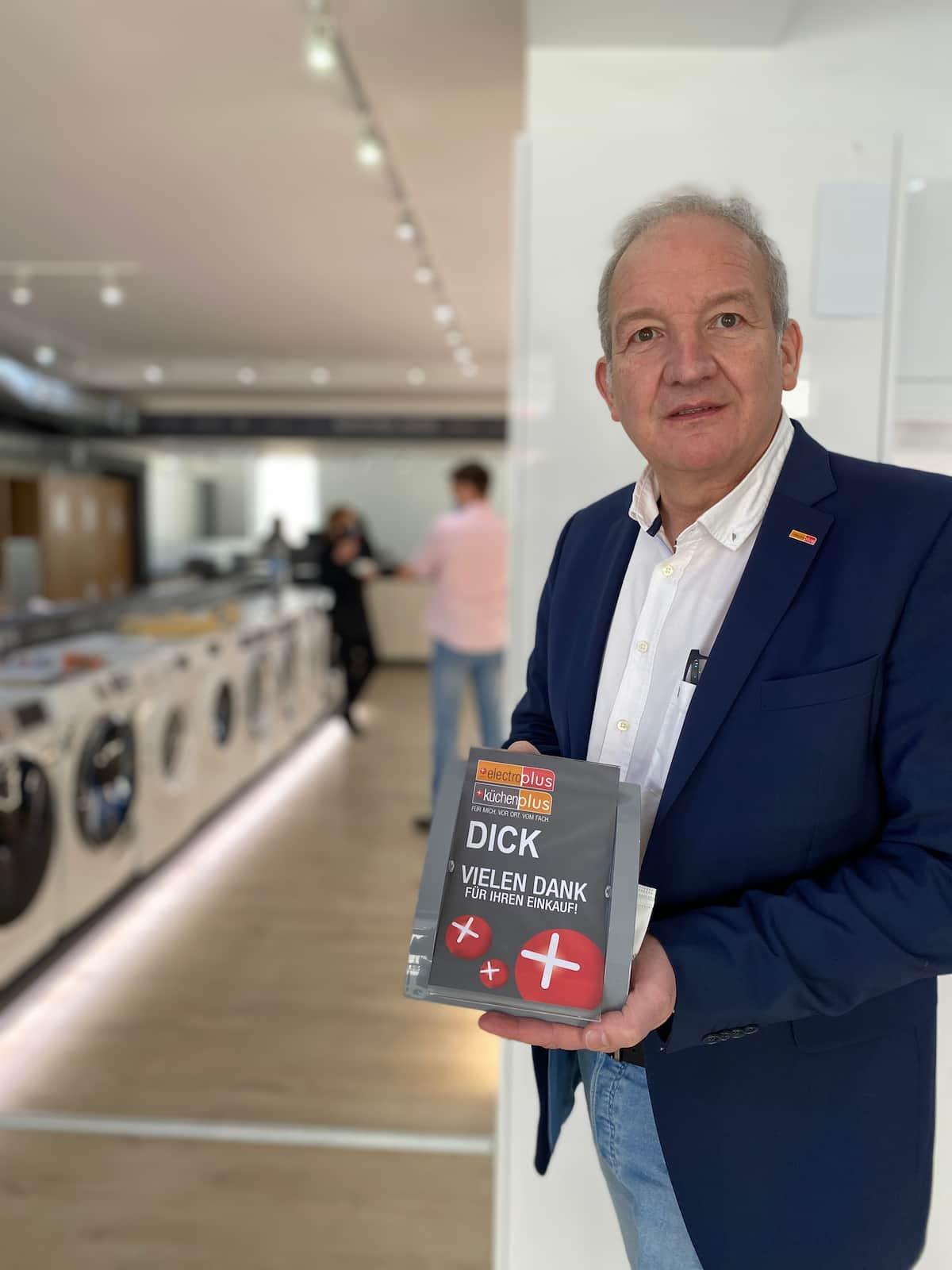 Horst-Werner Dick ist Kaufmann mit strategischer Weitsicht und electroplus-Markenstorebetreiber in Bad Kreuznach und Ingelheim.