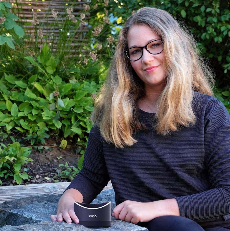 Nationale Gewinnerin des James Dyson Award: Rebecca Weiss mit Coso, dem Verhütungsmittel für den Mann.