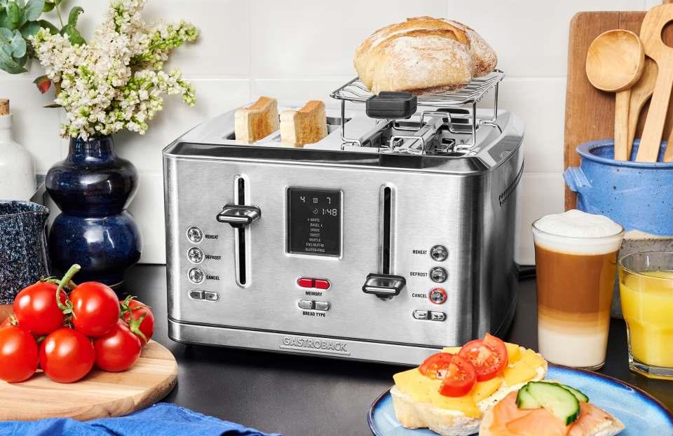 Gastroback Toaster Digital 4S mit Speicherfunktion.