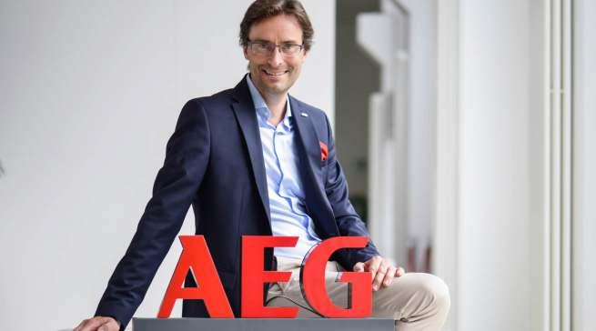 """""""Wir wollen die Marke AEG wieder dorthin bringen, wo sie hingehört: ins Premium-Segment"""", Michael Geisler, Geschäftsführer Electrolux Hausgeräte."""