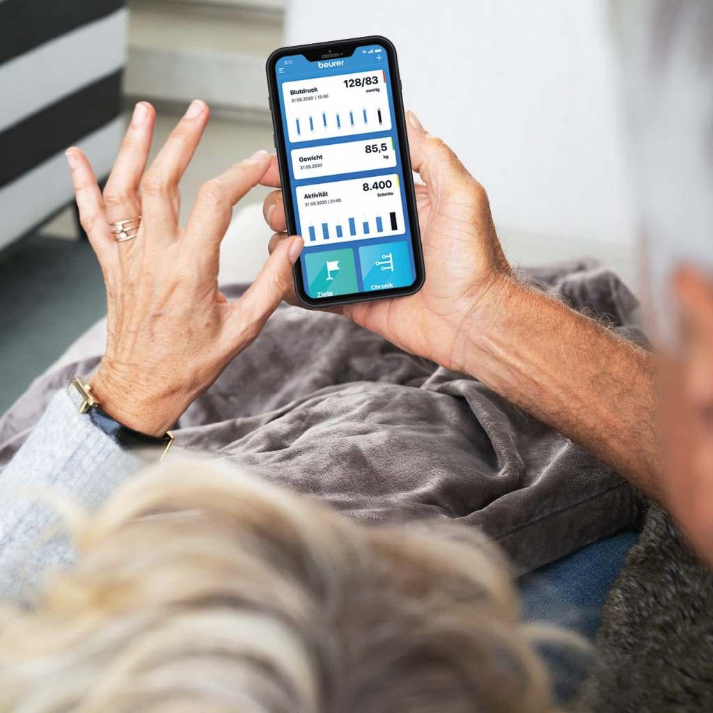 """Die neue App für ganzheitliches Gesundheitsmanagement: """"beurer HealthManager Pro""""."""