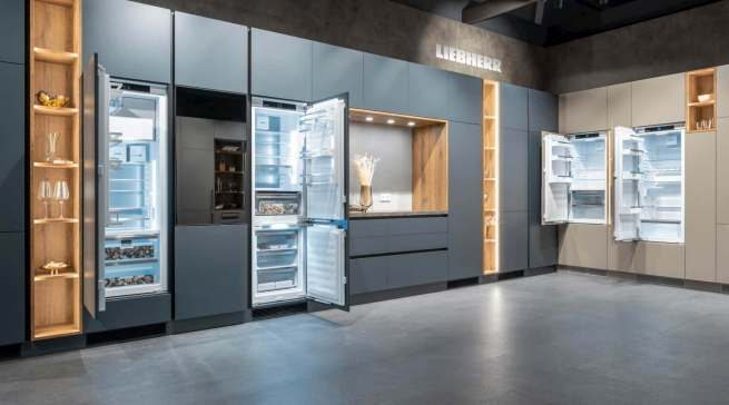 Liebherr zeigt seine Neuheiten in der Architekturwerkstatt in Löhne.