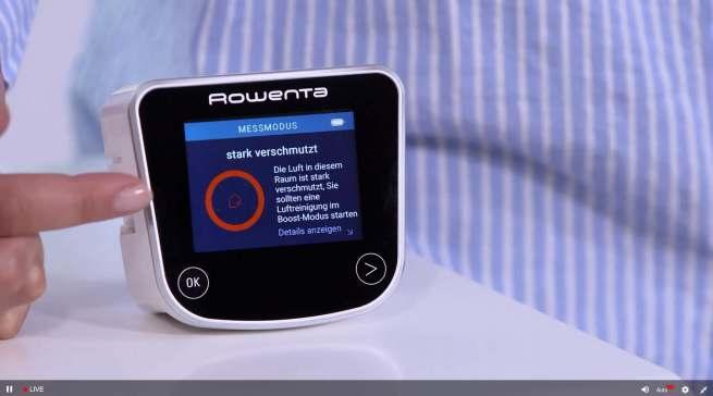 Pure Home Luftreiniger von Rowenta: Die mobile Air Quality Box misst die Innenluftqualität eines jeden Raumes.