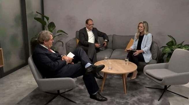 Im Branchendialog (v.r.) Christiane Stein, Dr. Markus Miele und Dr. Reinhard Zinkann.