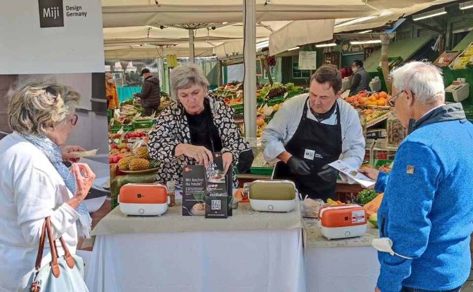 Neu bei Kustermann und auf dem Münchner Viktualienmarkt: Miji mit der Cookingbox One.