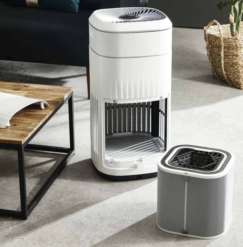 Rowenta Luftreiniger Pure Home mit Air Quality Box.