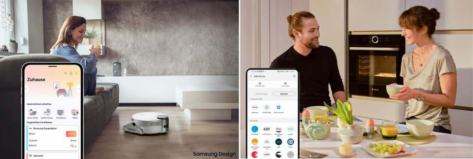 Kompatibilität endlich gewährleistet: Samsung und Bosch vernetzen ihre Haushaltsgeräte.