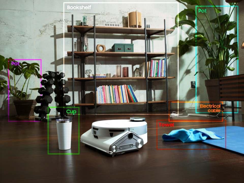 Samsung Staubsauger-Roboter Jet Bot AI+ mit Navigationssystem.