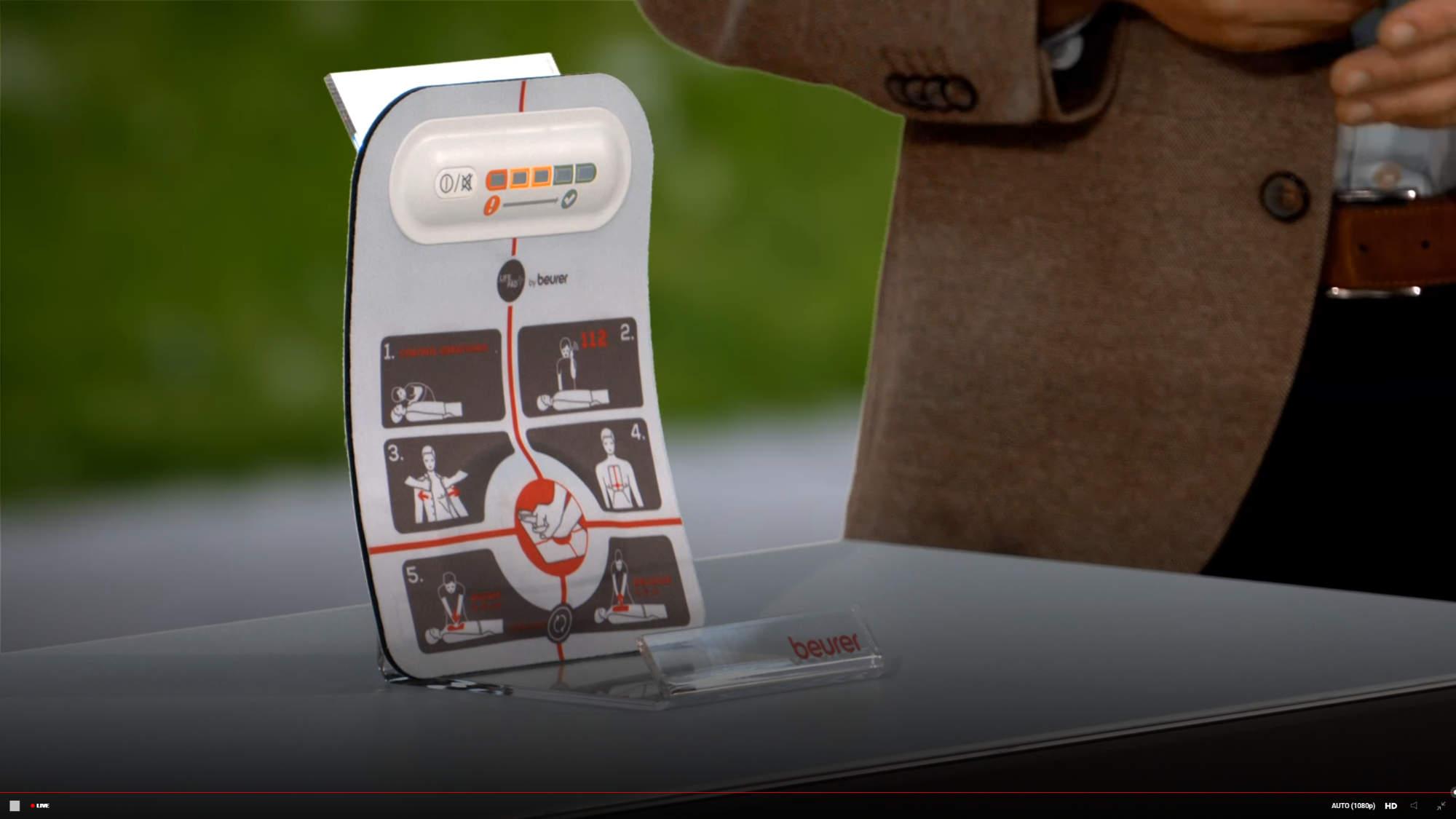 """Das """"LifePad"""", entstanden in der Kooperation mit dem Schweizer Start-up und Medizintechnik-Unternehmen Innotas."""