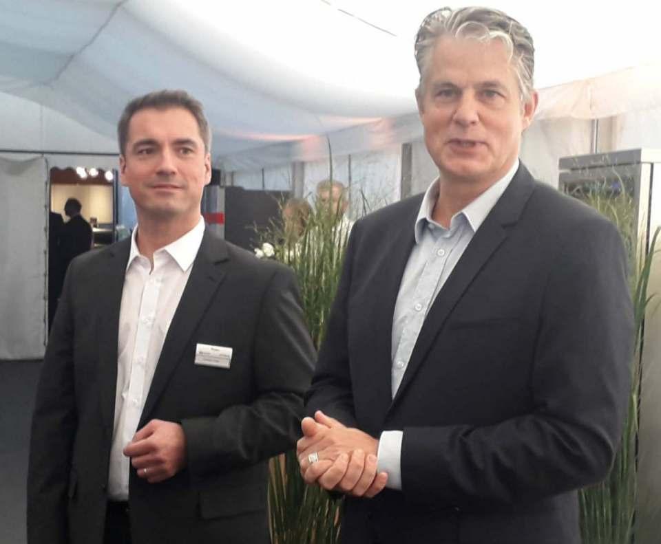 Freuen sich auf den Besuch der Fachhändler auf Gut Böckel: Christoph Bidlingmaier (r.) und Christian Unger.