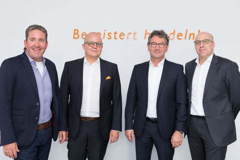 Der neue Vorstand der EK Gruppe (v.l.): Gertjo Janssen, Jochen Pohle, Franz-Josef Hasebrink und Martin Richrath.