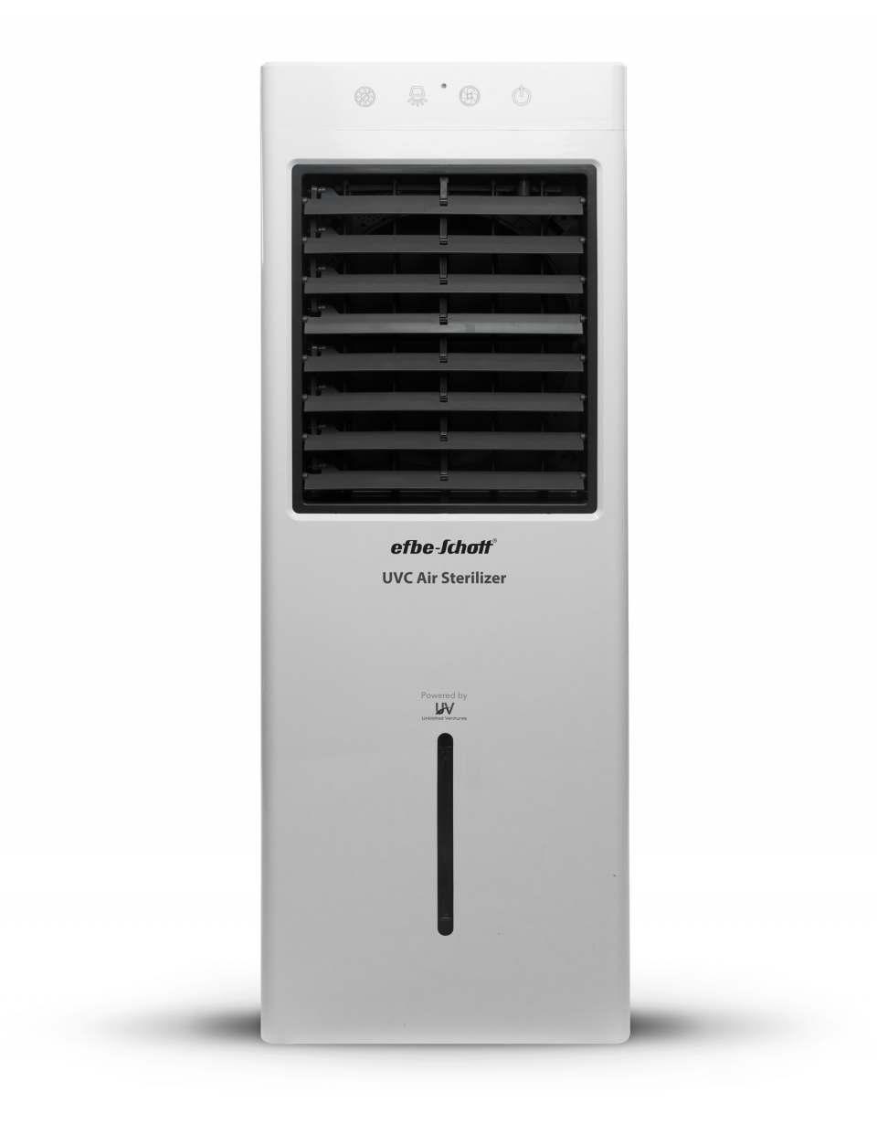 efbe-Schott Luftreiniger SC UV 900 mit • Steuerung über Touchpanel und Fernbedienung.