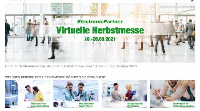 Um den Ausfall der IFA 2021 aufzufangen, präsentierte ElectronicPartner seinen Mitgliedern im Rahmen einer digitalen Herbstmesse ein umfassendes Programm mit Produktneuheiten, Aktionen und Workshops.