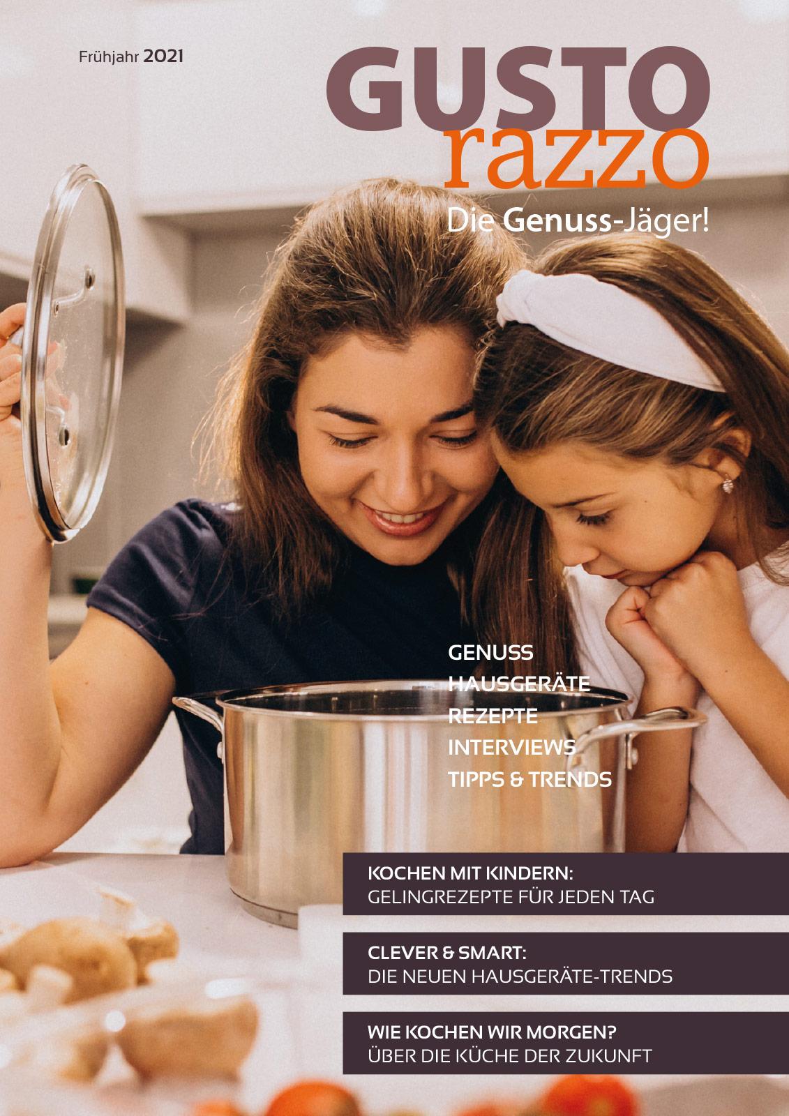 Titelseite GUSTOrazzo Frühjahr 2021