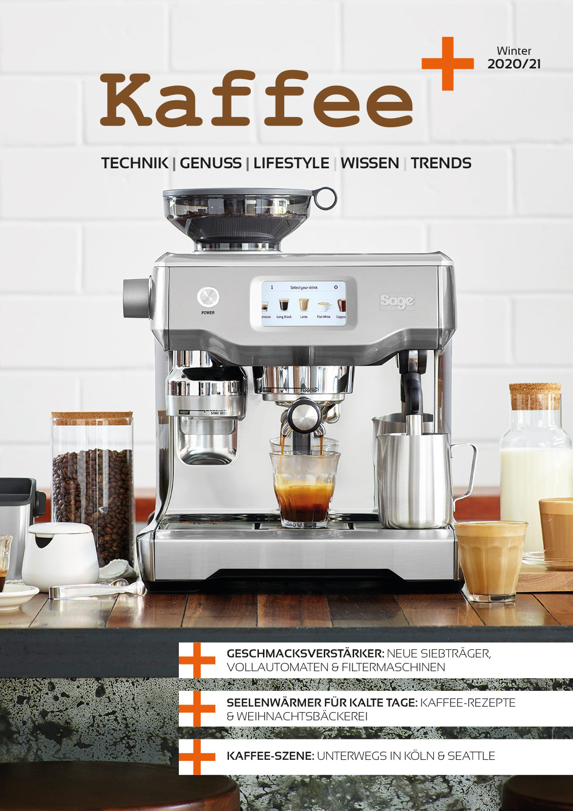 Titelseite Kaffee+ Winter 2020