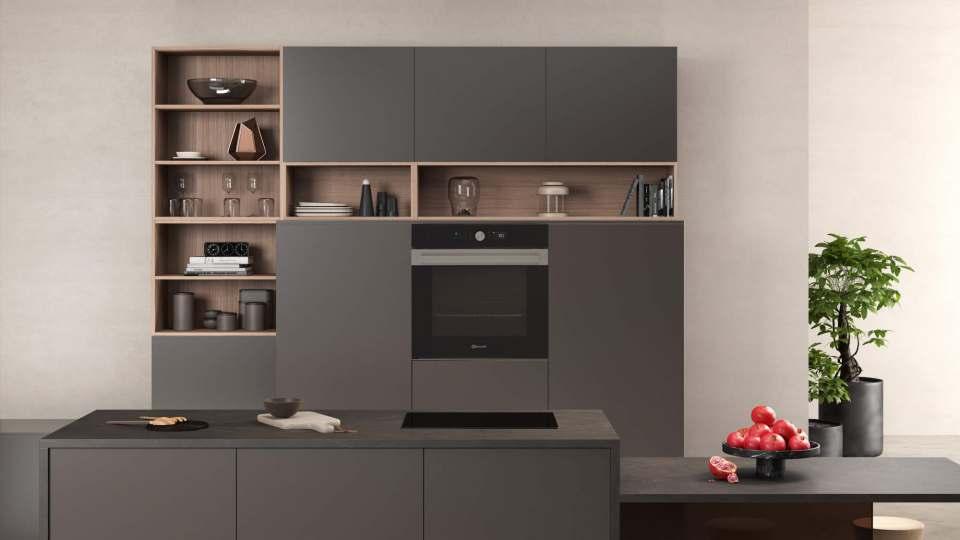 Schöner Wohnen: In die fließenden Küchenmöbel-Übergänge zwischen Wohnen und Kochen fügt sich die Collection.05 von Bauknecht hervorragend ein.