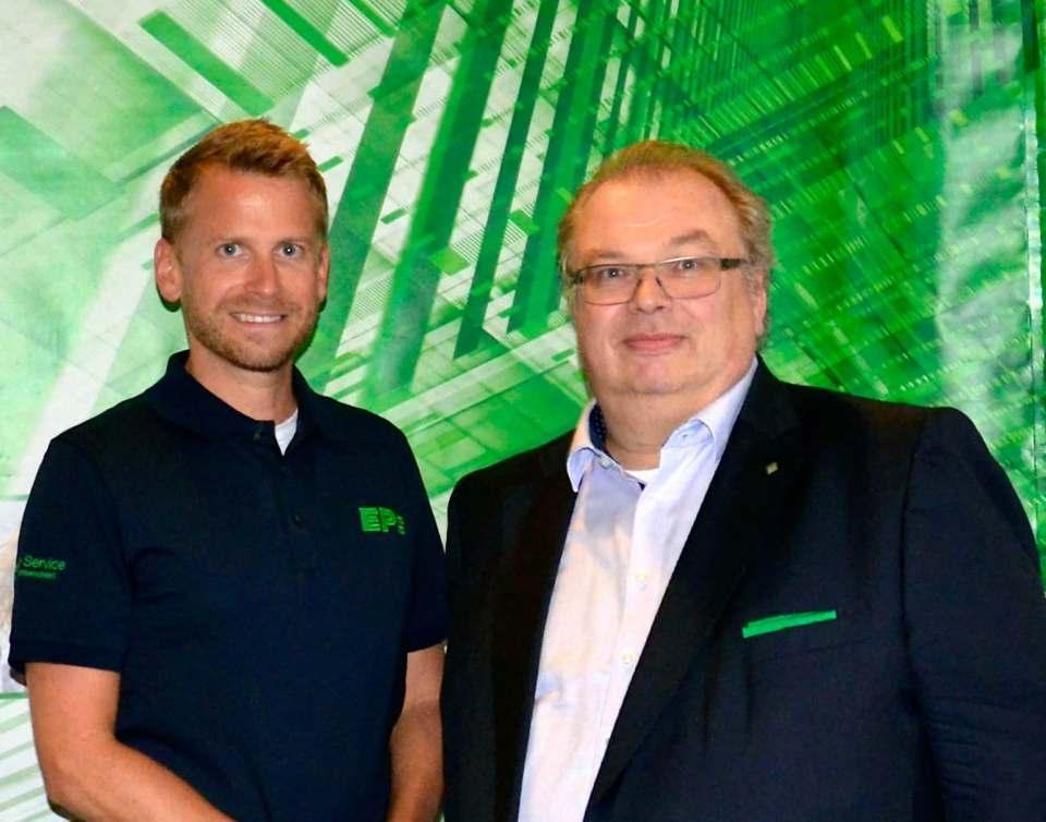 Michael Hofer (l.) und Jörn Gellermann freuen sich auf die intensive Zusammenarbeit als Geschäftsführer von ElectronicPartner Austria.