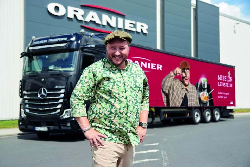 Oranier präsentierte Fernsehkoch Sebastian Lege als Markenbotschafter auf der area30.