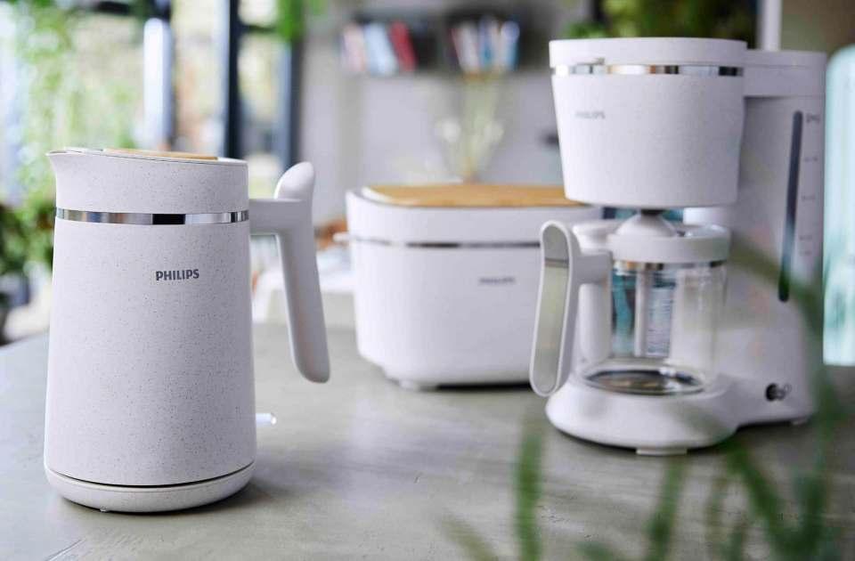 Aus recyceltem Kunststoff: Das Philips Breakfast Conscious Set.