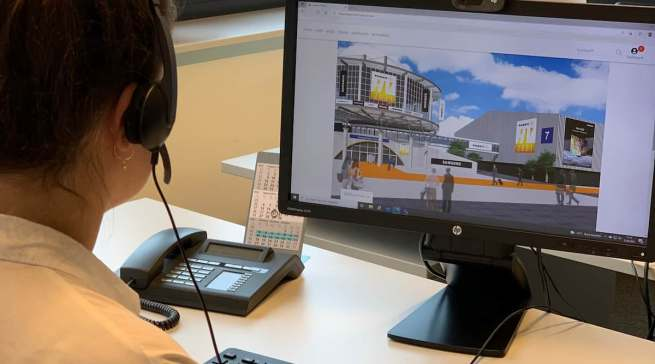 Auf der virtuellen Messeplattform konnten sich die Teilnehmenden in Workshops über Branchen-Insights sowie die jeweiligen expert-Fachbereiche informieren.